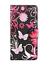 Black Butterflies PU Leather with Stand and Card Slot Case Cover for Sony Xperia Z2
