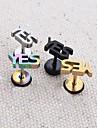 예 수술 티타늄 스틸 문자 단일 스터드 귀걸이 (임의의 색상을) lureme®316l