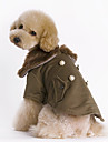 Dog Coat Dog Clothes Keep Warm Fashion Solid Brown Costume For Pets