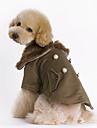 강아지 코트 강아지 의류 따뜻함 유지 패션 솔리드 브라운 코스츔 애완 동물