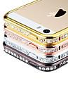 아이폰 5/5S를위한 향수 다이아몬드 Rhinstone의 금속 풍부한 구조 케이스 (분류 된 색깔)