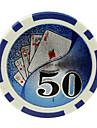 $ 50 blue chips 15g abs de mahjong divertissement jouets