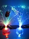 Coway A Rose Bottle of Optical Fiber Flower Colorful LED Night Light(Random Color)