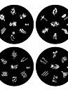 1pcs nail art estampage estampille l'image modèle plaque b série no.45-48 (modèle assortis)