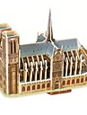 Jigsaw Puzzles 3D Puzzles Building Blocks DIY Toys Famous buildings Paper Brown / Gray Model & Building Toy
