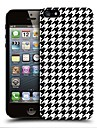 Black Houndstooth Pattern Hard Back Case Cover for iPhone 4/4S