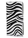 Zebra Pattern PU Leather Case Cover with Stand and Card Slot for Sony Xperia M C1905