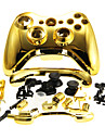 Replacement Housing Case Cover for XBOX 360 Wireless Controller Golden