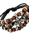 Homme Bracelets Bracelets en cuir Original Style Punk Perle bijoux de fantaisie Mode Cuir Alliage Forme de Croix Bijoux Bijoux Pour