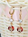 새로운 디자인 여러 가지 빛깔의 18K 골드 & AAA 스위스 다이아몬드 & 18K 금 여성 드롭 귀걸이 ER0236