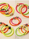 (3PC Random) Casual and Practical High Elastic Color Elastic Hair Bands