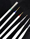 Tiny Acrylic Nail Art Drawing Pen Brush Painting Tools 3 + 3 Per Set