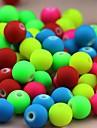 z&X® Beads DIY material de particulas fluorescentes coloridas 6mmx6mm 100 unidades (cor aleatoria, padrao)