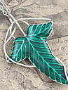 Men's Green Leaf Pendant Necklace