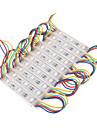 z®zdm 7W 30x5050smd rgb levou modulo shell retangulo de plastico de luz (12V DC)
