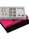 Coffres a bijoux Molleton / Papier Forme Geometrique Rouge Rose / Noir / Gris