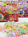 z&X® tear bandas handmade (300pcs elástico, agulha de crochê reciclar, reciclar gancho s, instruções)