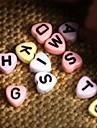 z&X® Beads DIY material de carta colorido em forma de coracao contas de 100 pecas (cor aleatoria, padrao)