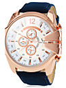 V6® Men\'s Watch Military Style Rose Gold Case Leather Band  Cool Watch Unique Watch Fashion Watch