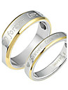 """Ring Wedding / Party / Daily / Casual Jewelry Titanium Steel Couples Couple Rings""""forever love"""" 6 / 7 / 8 / 9 / 10 Silver"""