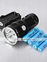 Lanternas LED Modo 6000 Lumens Recarregável / Resistente ao Impacto / Bisel de Golpe Cree XM-L T6 18650.0Campismo / Escursão /