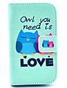 сову вам нужно любовь шаблон PU кожаный чехол с подставкой для Samsung Galaxy славы s6810