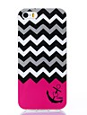 Black-white Wavy Lines Pattern Silicone Soft Case for iPhone 5/5S