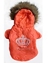 Cat Dog Hoodie Dog Clothes Breathable Tiaras & Crowns Orange Costume For Pets