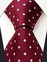 s15 shlax&asa pontos vermelhos casamento marrom tie moda masculina gravata extra longa