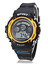 Unisex Multi-Functional LCD Digital Yellow Case Black Band Sporty Wrist Watch Cool Watch Unique Watch