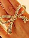 Shixin® Vintage Diamanted Bowknot Shape Statement Ring(1 Pc)