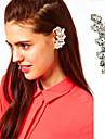 мода горный хрусталь цветок уха манжеты для женщин