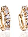 novo ouro 18k fashion design elegante das mulheres banhado brincos de zircão