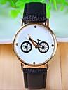 Mulheres Relógio de Moda Quartz Couro Banda Vintage Preta / Branco marca-