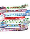fantasia adhesivos scrapbooking cinta adhesiva de 2,2 m (4 piezas de color al azar)