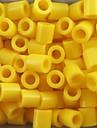 ca 500pcs / taske 5mm gule sikringsholdere perler Hama perler diy puslespil EVA materiale olietankeren for børn håndværk