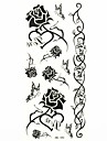 #(1) Pattern Waterproof Flower Series Tattoo Stickers
