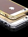 Capinha Para Capinha iPhone 5 Com Strass Protetora de Quinas Côr Sólida Rígida PC para iPhone SE/5s iPhone 5