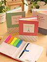 διαφορετικό σχήμα σημειώσεις αυτοκόλλητων που με στυλό διαρκείας (τυχαία χρώμα)