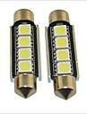 carking ™ 12v 2pcs 5050-4smd-41mm voiture feston interieur lampe lumiere rome lumiere blanche
