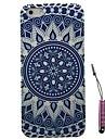 bleu et blanc motif de porcelaine de cas dur&Stylet pour iPhone 5 / 5s