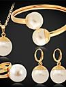 u7® grande perles synthétiques imitation pendants d'oreilles bracelet bague fixée 18mm 55cm
