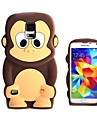 3D Design Cartoon Monkey Pattern Silicone Soft Case for Samsung S5 I9600