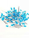 Blue Light 3mm LED Light Emitting Diodes for Arduino Test (50 PCS)