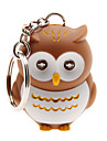 LED Lighting Key Chain Toys Key Chain LED Lighting Sound Owl ABS Cartoon Illuminated Luminous Fluorescent Pieces Christmas Birthday