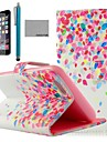 COCO FUN® Colorful Dots Pattern PU Leather Full Body Case for iPhone 6 4.7 with Screen Protecter