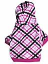 Кошка Собака Толстовки Одежда для собак В клетку Розовый Хлопок Костюм Для домашних животных