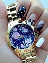 여성 partysu 아름다운 복고풍 장미를보고& 제네바 quatz 미니 폴카 도트 프린트 스틸 벨트는 모듬 색상 d0412 시계