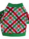 Cat Dog Shirt / T-Shirt Dog Clothes Breathable Plaid/Check Costume For Pets