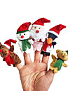 Finger Puppet Animals Toys Christmas Santa Suits Elk Snowman Toys Talking Kids Girls Boys 5 Pieces